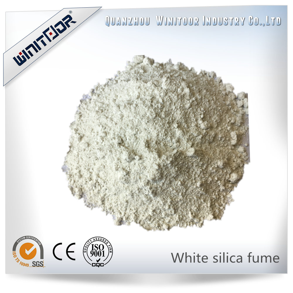 White silica fume /zirconia silica fume for refractory
